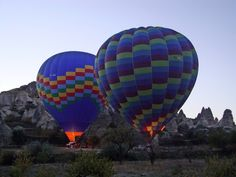 hot air balloons. on the list.