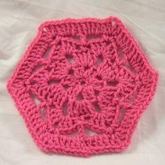 Scrap Savers Hexagon Motif | AllFreeCrochet.com