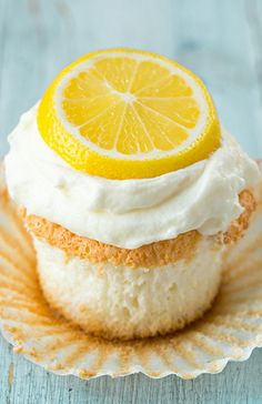 Lemon Angel Food Cupcakes by Cooking Classy