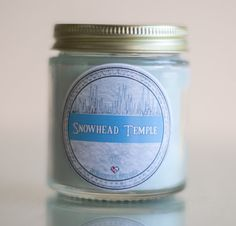Snowhead Temple Soy Candle (4 oz.) - $6