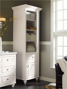 Strasser shaker 60 vanity with linen tower ideas for for Stand alone medicine cabinet