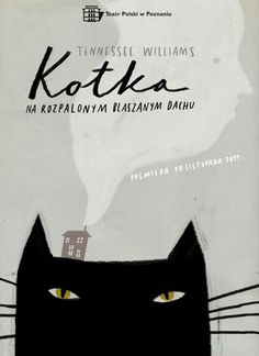 María Inés cover for Cat on a Hot Tin Roof, switching the position of the cat