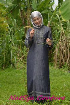 NatSya Couture - Soft Denim Jubah