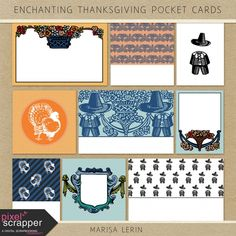 Enchanting Thanksgiving Pocket Cards Kit | digital scrapbooking | fall, project life, pocket scrapping, printable