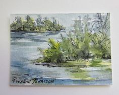 Florida Isle ACEO Original watercolor pen and by watercolorsNmore, $5.00
