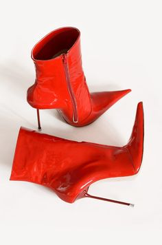 Luxury hand made shoes Stiletto Boots, High Heel Boots, Heeled Boots, Shoe Boots, Patent Heels, Hot High Heels, Red Boots, How To Make Shoes, On Shoes
