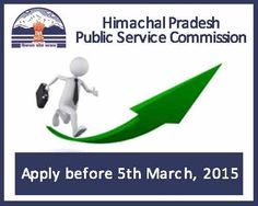 HPPSC Recruitment 2015 | Last date to Apply is 5th March, 2015