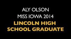 Lincoln High School graduate Miss Iowa 2014 Aly Olson told Harding Middle School graders growing up in Des Moines schools gave her an advantage. Miss Iowa, Middle School, High School, Graduate School, Growing Up, Tv, Teaching High Schools, University, Secondary School
