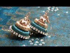 Silk Thread jewellery using Paper Quilling mold -Silk Thread Jumka - YouTube