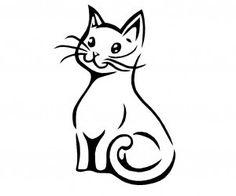 Little smiling cat tattoo