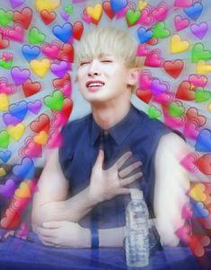 Memes Para Contestar Monsta X Ideas For 2019 K Pop, Memes Funny Faces, Funny Kpop Memes, Jaehyun, Nct, Monsta X Funny, Heart Meme, Cute Love Memes, New Memes