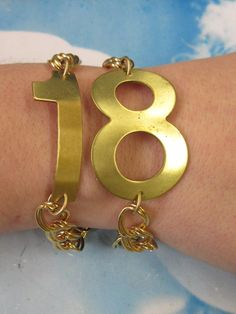 Solid Raw Brass Number 8 Stamping Bent or by dimestoreemporium