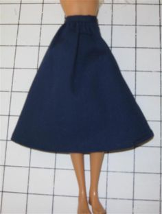Sew a Classic Doll Skirt with This Free Pattern: Materials Needed to Sew a Gathered Waistband Skirt for a Fashion Doll or Barbie