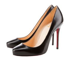 Of Course these are sold out! I need a classic black pump!- CL Elisa 100 MM Black Leather