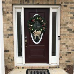 Great creation by my daughter Marsha. @apieceofsunshyne_floral. Customized for the door and our liking. Get one before the holiday ends