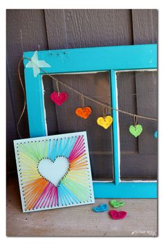 DIY string art heart garland how-to by Michaels Makers Sugarbee Crafts