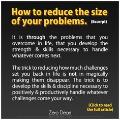 How to reduce the size of your problems. #zerosophy