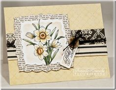 Danielle Kennedy as Wild Dragonfly Designs, using the daffodils from the Flourishes Year of Flowers stamps, Feb 2013