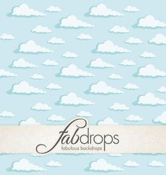 Baby Clouds Photography Backdrop Vintage Clouds FD5064 by FabDrops
