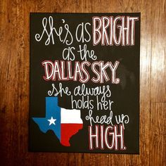 She's like Texas painting by KuskisCalligraphy on Etsy