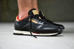 detailing 9392c 01802 Reebok Classic Leather Utility - Black   Red