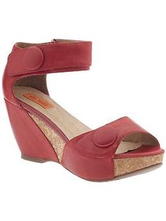 cute comfy looking red sandals, have vintage look about them, Yael by Miz Mooz