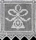 10388 Free standing lace Christmas crochet squares