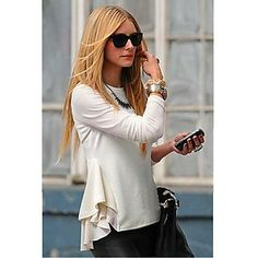 Women's Round Collar Chiffon Splicing Blouse - Get Free delivery on all UK orders at Light in the Box - UK