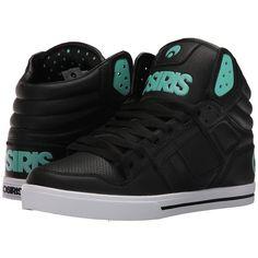 Osiris Clone (Glam Metal) Men's Skate Shoes ($43) ❤ liked on Polyvore featuring men's fashion, men's shoes, men's sneakers, mens high top skate shoes, mens shoes, mens high top shoes, mens skate shoes and mens hi tops