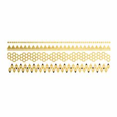 HONEYCOMB GEOMETRIC BRACELETS METALLIC TEMPORARY TATTOOS