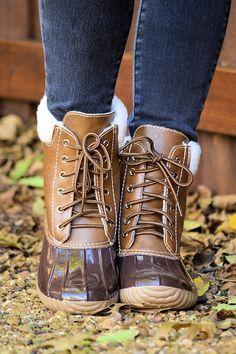 Fall Fashion, Winter Fashion, Rainboots, Duck Boots, Chocolate Duck Boots- Rain Or Shine Duck Boots-Chocolate by Jane Divine Boutique http://ss1.us/a/sDG9qtij