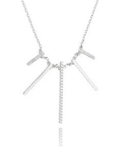 colar minimalista geometrico moderno prata rodinada