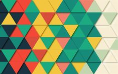 Download wallpapers mosaic patterns, 4k, triangles, shapes geometric, geometry