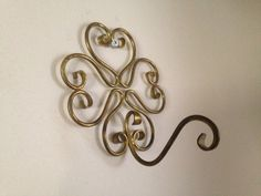 Vintage and Unique Brass Wire Wall Coat Hook Plant Hanger in Home & Garden, Household Supplies & Cleaning, Home Organization | eBay