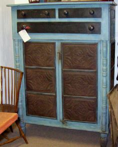 Antique Pie Safe Prices | EARLY VA. PIE SAFE W/ OLD ROBIN EGG BLUE PAINT & SOME APPLIED ...