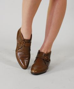 VTG Bally Leather Ankle Boots 80s Chestnut Brown Leather Designer Ankle Booties 8 M. $85.00, via Etsy.