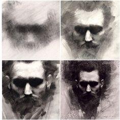 Учимся рисовать портреты углем в технике Кейси Бо (Casey Baugh)