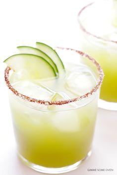 Spicy Cucumber Margaritas