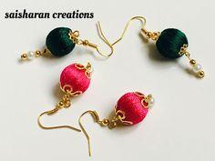Silk Bead earrings
