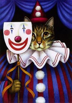 Clown Cat ~ Stephanie Stouffer.  For more great pins go to @KaseyBelleFox