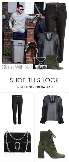 """""""Niall"""" by idaln ❤ liked on Polyvore featuring Gucci, Prada, Christian Dior, OneDirection, NiallHoran and onedirectionoutfits"""