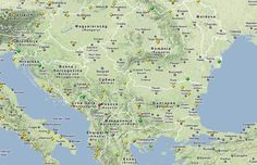 map of the sites in the Moldova, Romania, Map, Cards, Maps