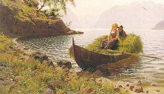 Dans les eaux calmes de Hans Dahl (1849-1937, Norway)