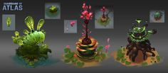 ArtStation - Plants concept for Guardians of Atlas, Wu Liu