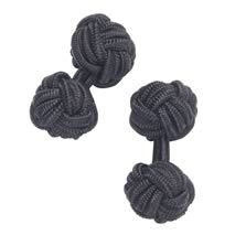 Black silk knot cufflinks - Charles Tyrwhitt