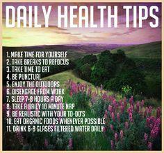 Daily Health Tips #Health