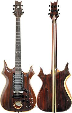 """Jerry Garcia's custom-built Steve Cripe guitar: """"Lightning Bolt."""""""