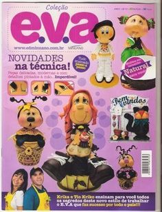 Revistas de Foamy gratis: Como hacer fofuchos paso a paso Foam Crafts, Arts And Crafts, Paper Crafts, Diy Crafts, Snowflake Pattern, Flower Pots, Mickey Mouse, Projects To Try, Crafty