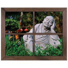 Window Views Wall Graphics from Walls 360: Buddha