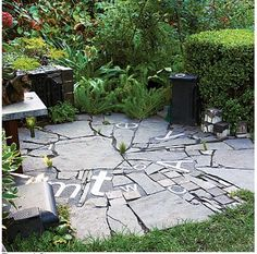 I Like Funky Stones Recycled Materials Yay Patio IdeasLandscaping